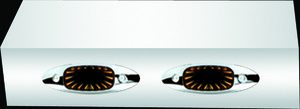 MIRROR LIGHT BOXES - 379, 388, 389 - CAB MOUNTED MIRRORS - 2 - TUNNEL LIGHTS - AMBER LEDS