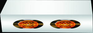 "MIRROR LIGHT BOXES - 379, 388, 389 - CAB MOUNTED MIRRORS - 2 - 899""S - AMBER LEDS"