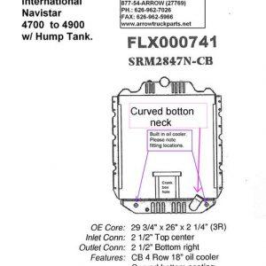 International / Navistar 4700 / 4900 Radiator - 4 Row fits '90 - '02