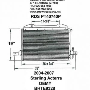 Sterling Acterra '04-07 A/C Condenser