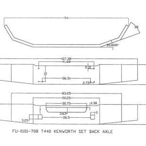 Kenworth T440 '13 and Newer Bumper: Chrome Steel