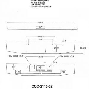 Freightliner Coronado Bumper: Redesigned - Chrome Steel
