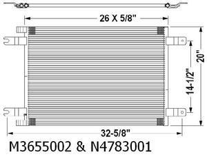 Kenworth T-660 07-08 A/C Condenser