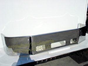 """Peterbilt 387 Bumper - '02-UP Chrome 16"""" no fog light holes"""