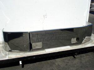"""Peterbilt 387 Bumper - '02-UP Chrome 16"""" no / fog light or step holes"""
