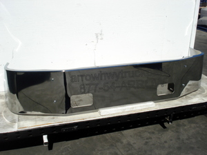 "Peterbilt 387 Bumper - '02-UP Chrome 16"" no / fog light or step holes"