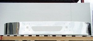 International 9400i, 9200i, & 9100i Bumper w/ No Body Line: Chrome Steel fits 1997 & Newer, Redesign