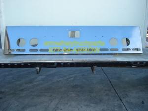 "Peterbilt 379 / 378 / 357 Bumper: ""Box End Custom"" W/ 4 Round Fog Light Holes, 6 Light Holes (Front), 5 Oval Holes (End)"