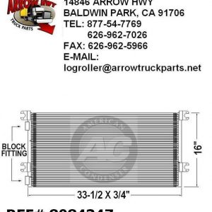 """Volvo VN - Series A/C Condenser 32.5""""x16"""" For 96-06"""