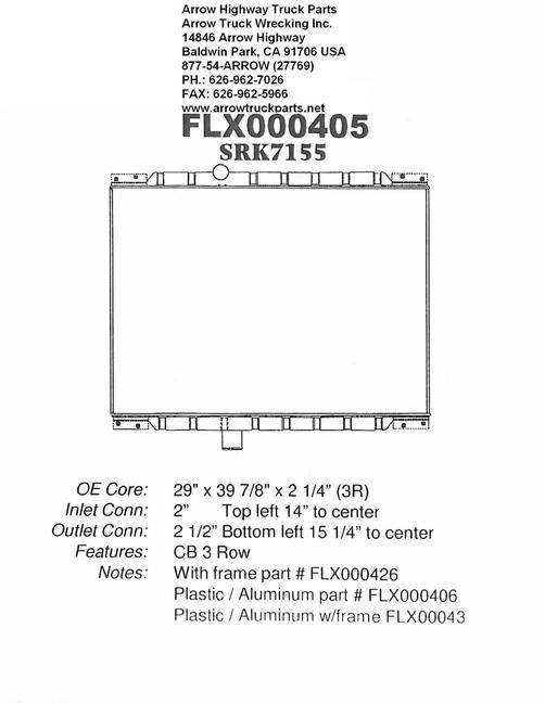 Mack CH600 Series Radiator - 3 Row fits '95 - '04