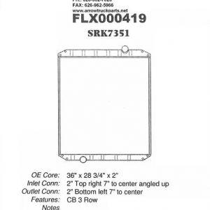 Mack CX Vision Radiator - 3 Row fits '00 - '05