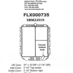 International / Navistar 4700 to 4900 Radiator - 4 Row fits '90 - '02