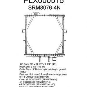 Peterbilt 379, 387 Radiator - 4 Row fits '05 - '07