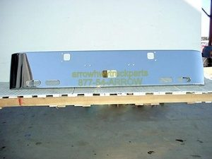 """Kenworth W900A Bumper: """"Rolled End Custom"""" W/ Step, Tow Hitch, & 4 Oval Light Holes"""