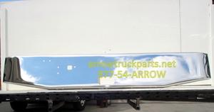 "International 9370 & 9670 Bumper: Chrome 16"" Taper w/ Tow Hitch Holes"