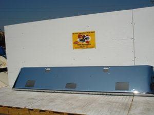"Kenworth W900B, W900L Chrome Steel 18"" Texas Bumper"