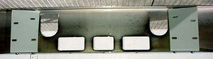 Mack CH600 SFA Bumper: Chrome Steel
