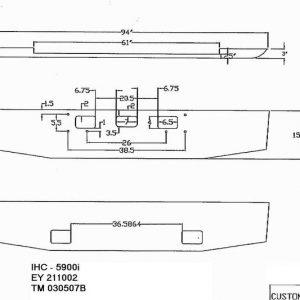 "International Paystar 5000 Bumper - Chrome Steel 16"" taper"
