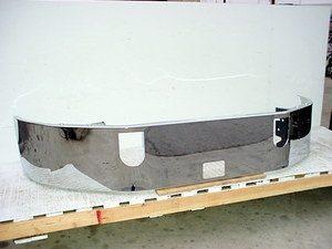 Mack CXN & CXP613 SBA Bumper: Chrome W/ No Fog Light Holes