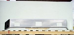 "Peterbilt 378 / 357 Set Back Axle Bumper: Chrome: 10"""