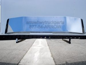 "Freightliner FLD120 & 112 Bumper: Chrome Steel, 18"" Tall"