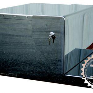 PB - 379,388, 389 REAR TOOL BOX - CHROME STEEL W/LOCKS