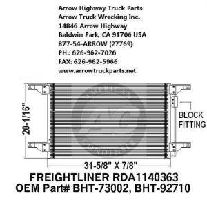 Freightliner 01-05 A/C Condenser