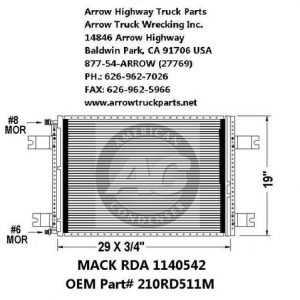 Mack CL 97-05 A/C Condenser