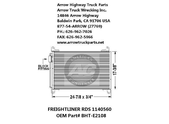 Freightliner M2 03-07 A/C Condenser