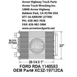 Ford F650/750 00-04 A/C Condenser