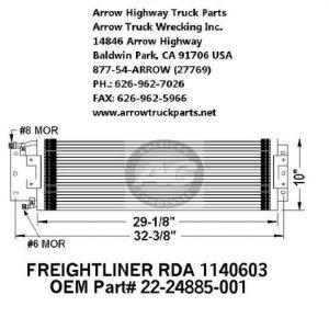 Freightliner 88-00 A/C Condenser: (27X10X2)