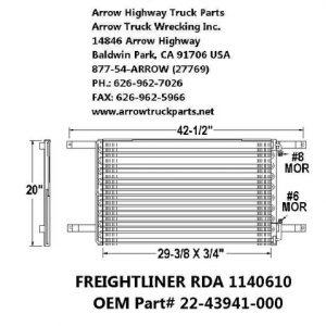 Freightliner 92-99 A/C Condenser: (29X10X2)