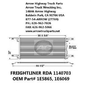 Freightliner Coronado 06-07 A/C Condenser