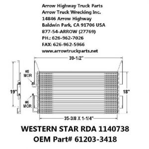 Western Star 98-02 A/C Condenser