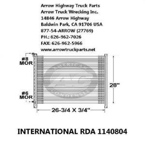 International / Navistar 82-91 A/C Condenser: (26X28X1)