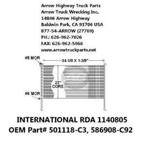 International / Navistar 82-00 A/C Condenser: (34X22X1-3/8)