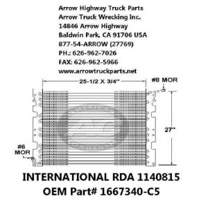 International 89-00 A/C Condenser: (26X26X1)