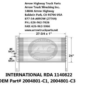 International 9300 A/C Condenser: (28X24X1)