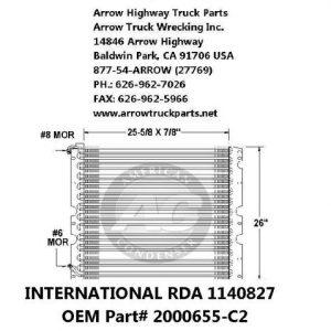 International 4600/4900 93-00 A/C Condenser: (26x26)