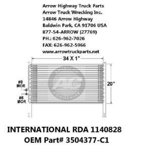 """International 9000 99-02 A/C Condenser: (34""""x20"""")"""