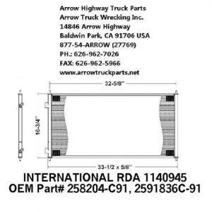 International / Navistar Prostar 08-09 A/C Condenser