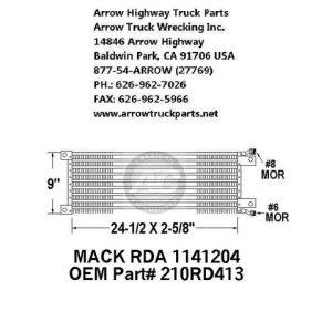 Mack 87-93 A/C Condenser: (29X9X3)