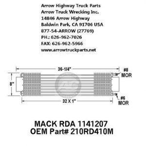 Mack 88-97 A/C Condenser: (32X8X1)