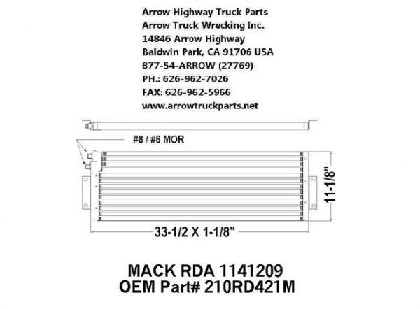 Mack CH 94-98 A/C Condenser