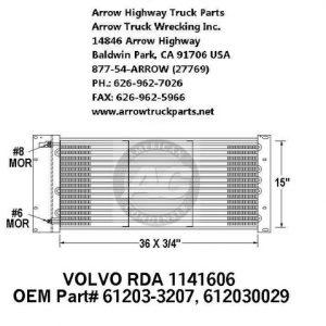 Volvo 76-96 A/C Condenser: (36X15X1)