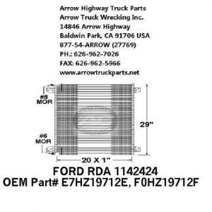 Ford L-Series 88-91 A/C Condenser: (22X29X1)