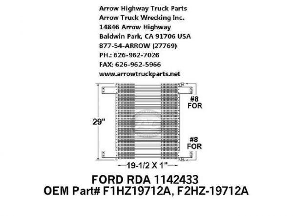 Ford L-Series 91-93 A/C Condenser: (19X29X1)