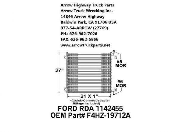 Ford L-Series 94-97 A/C Condenser: (21X27X1)