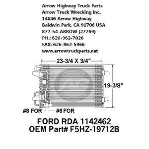 Ford F700/800 95-99 A/C Condenser: (23x19)