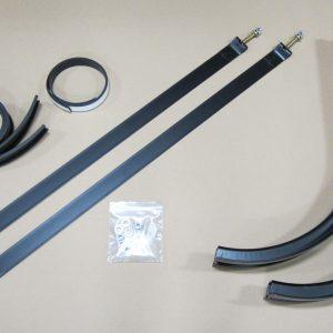 Mounting Kit: 2 Powder Coated Black Brackets W/ 2 Powder Coated Steel Straps